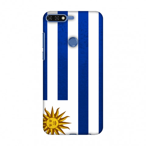 Love For Uruguay Slim Hard Shell Case For Huawei Honor 7C