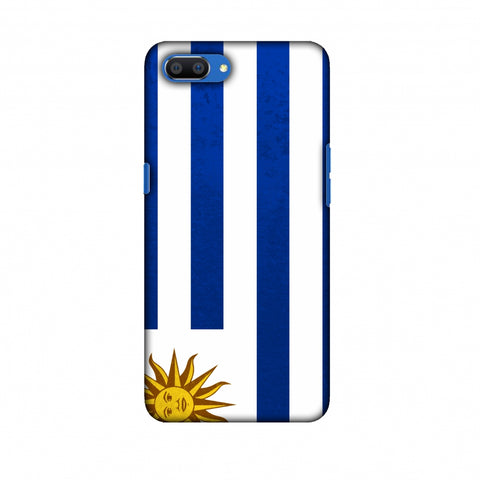 Love For Uruguay Slim Hard Shell Case For Oppo Realme C1