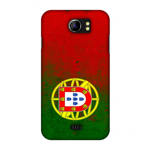 Love For Portugal Slim Hard Shell Case For Micromax Canvas 2 A110