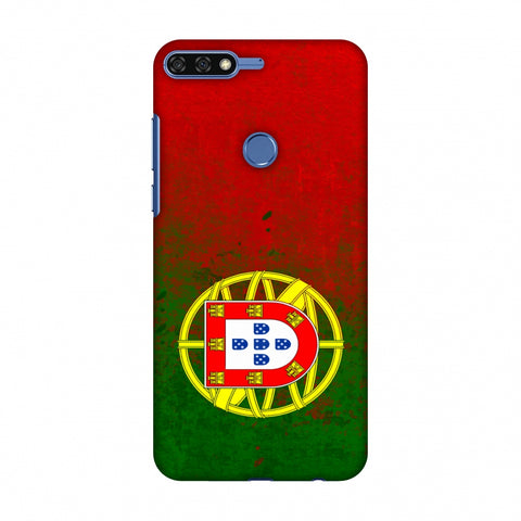 Love For Portugal Slim Hard Shell Case For Huawei Honor 7C
