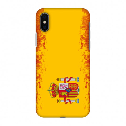 Love For Spain Slim Hard Shell Case For Apple iPhone X