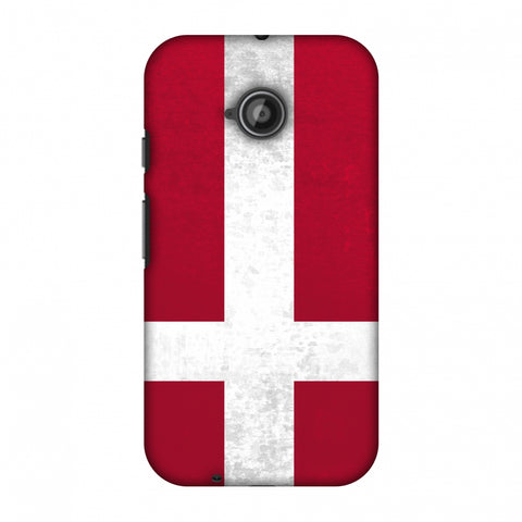 Love For Denmark Slim Hard Shell Case For Motorola Moto E 2nd Gen