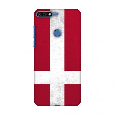 Love For Denmark Slim Hard Shell Case For Huawei Honor 7C