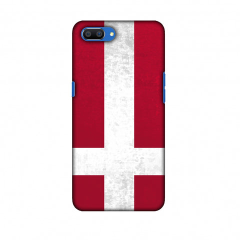 Love For Denmark Slim Hard Shell Case For Oppo Realme C1