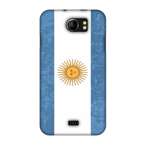 Love For Argentina Slim Hard Shell Case For Micromax Canvas 2 A110