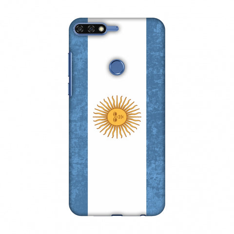 Love For Argentina Slim Hard Shell Case For Huawei Honor 7C