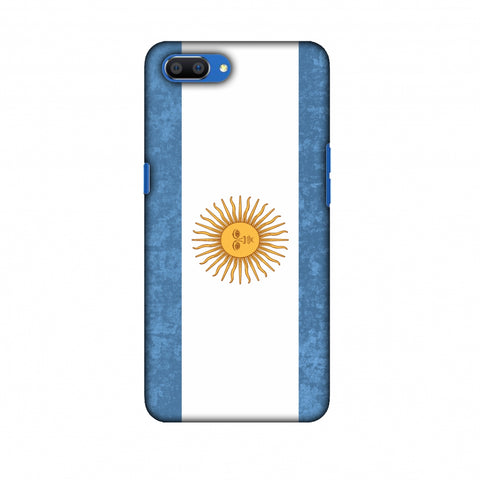 Love For Argentina Slim Hard Shell Case For Oppo Realme C1