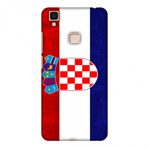 Love For Croatia Slim Hard Shell Case For Vivo V3 Max