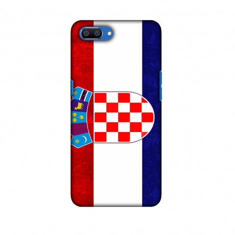 Love For Croatia Slim Hard Shell Case For Oppo Realme C1
