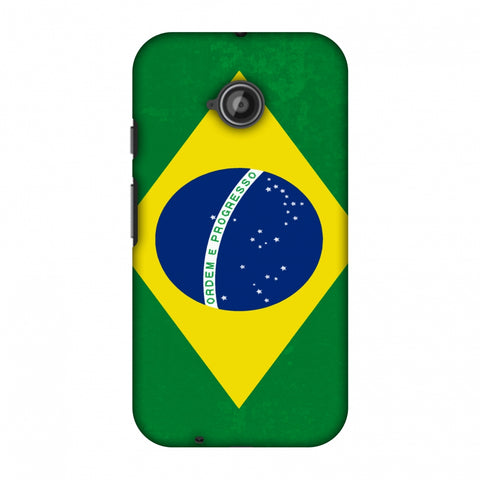 Love For Brazil Slim Hard Shell Case For Motorola Moto E 2nd Gen