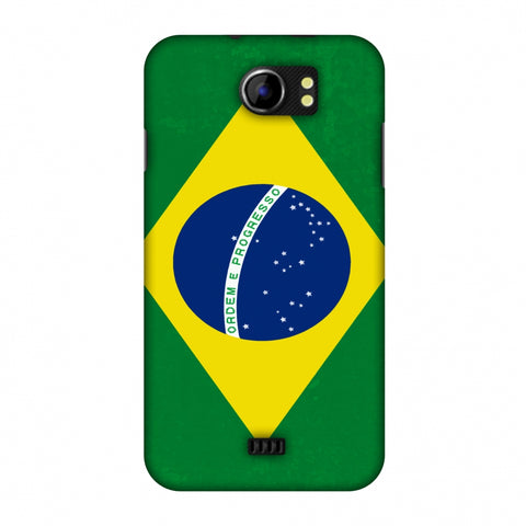 Love For Brazil Slim Hard Shell Case For Micromax Canvas 2 A110