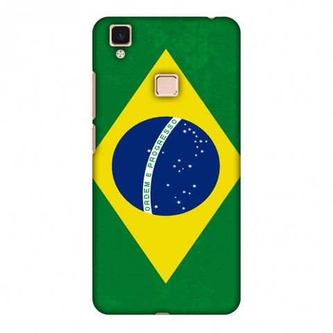 Love For Brazil Slim Hard Shell Case For Vivo V3 Max