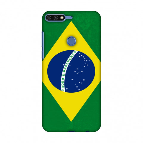Love For Brazil Slim Hard Shell Case For Huawei Honor 7C