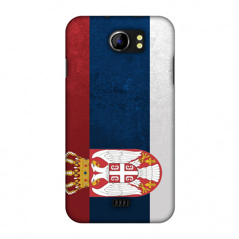 Love For Serbia Slim Hard Shell Case For Micromax Canvas 2 A110