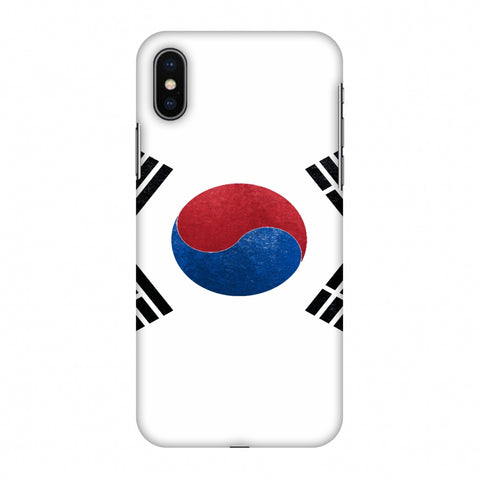 Love For South Korea Slim Hard Shell Case For Apple iPhone X