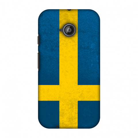 Love For Sweden Slim Hard Shell Case For Motorola Moto E 2nd Gen