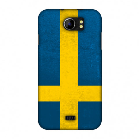 Love For Sweden Slim Hard Shell Case For Micromax Canvas 2 A110