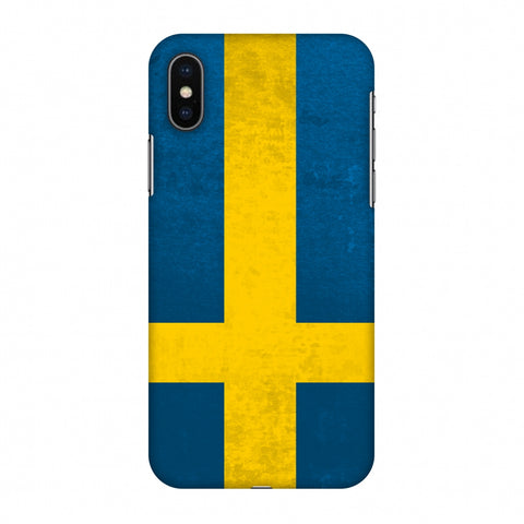 Love For Sweden Slim Hard Shell Case For Apple iPhone X