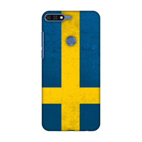 Love For Sweden Slim Hard Shell Case For Huawei Honor 7C