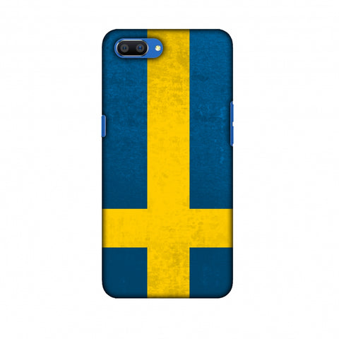 Love For Sweden Slim Hard Shell Case For Oppo Realme C1