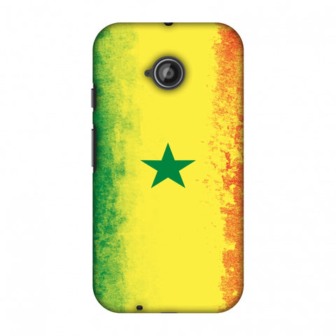 Love For Senegal Slim Hard Shell Case For Motorola Moto E 2nd Gen