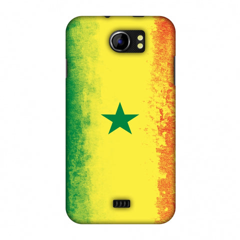 Love For Senegal Slim Hard Shell Case For Micromax Canvas 2 A110