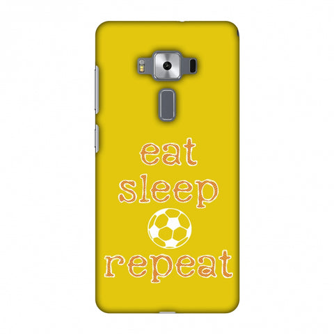 Football - Eat Sleep Football Repeat - Yellow Slim Hard Shell Case For Asus Zenfone 3 Deluxe ZS570KL
