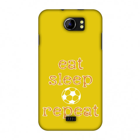 Football - Eat Sleep Football Repeat - Yellow Slim Hard Shell Case For Micromax Canvas 2 A110
