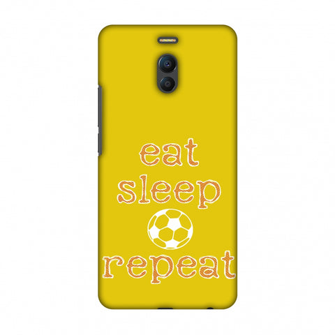 Football - Eat Sleep Football Repeat - Yellow Slim Hard Shell Case For Meizu Note 6