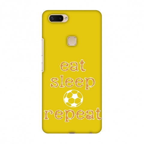 Football - Eat Sleep Football Repeat - Yellow Slim Hard Shell Case For Vivo X20 Plus