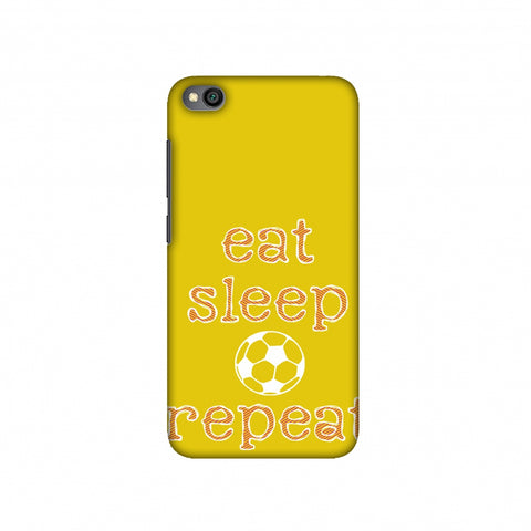 Football - Eat Sleep Football Repeat - Yellow Slim Hard Shell Case For Redmi Go