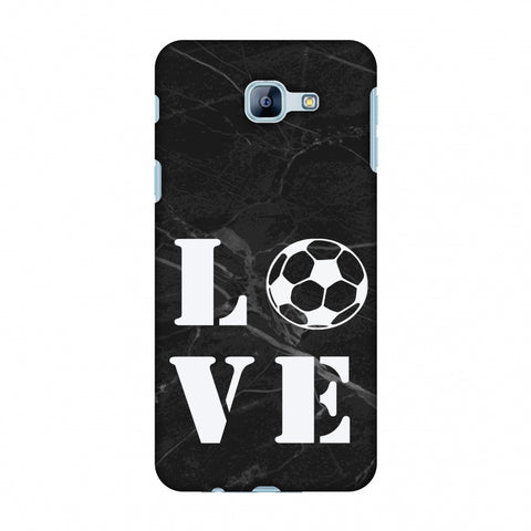 Football - Love Football - Black Marble Slim Hard Shell Case For Samsung Galaxy A8 2016