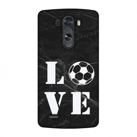 Football - Love Football - Black Marble Slim Hard Shell Case For LG G4