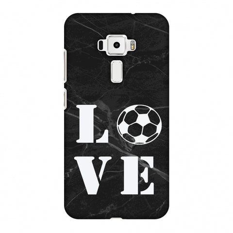 Football - Love Football - Black Marble Slim Hard Shell Case For Asus Zenfone 3 ZE520KL