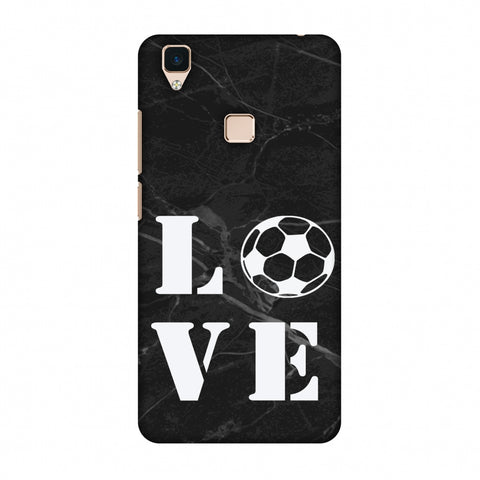 Football - Love Football - Black Marble Slim Hard Shell Case For Vivo V3