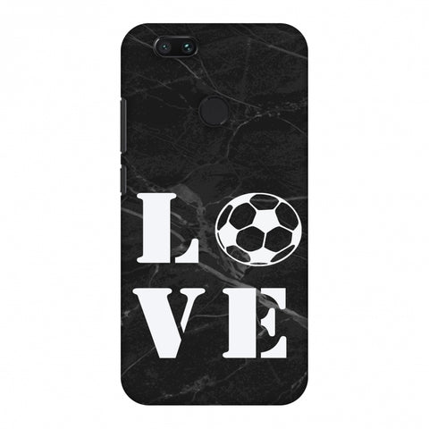 Football - Love Football - Black Marble Slim Hard Shell Case For Xiaomi MI A1-5X