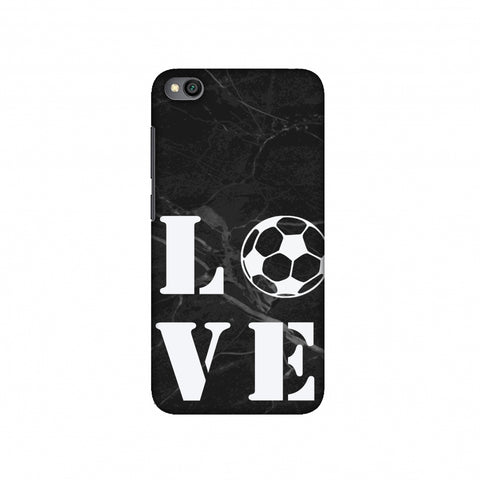 Football - Love Football - Black Marble Slim Hard Shell Case For Redmi Go