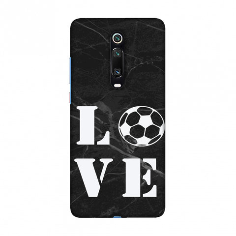 Football - Love Football - Black Marble Slim Hard Shell Case For Redmi K20/K20 Pro