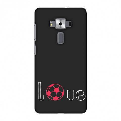Football - Love Football - Grey And Pink Slim Hard Shell Case For Asus Zenfone 3 Deluxe ZS570KL
