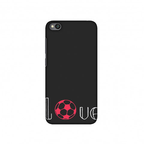 Football - Love Football - Grey And Pink Slim Hard Shell Case For Redmi Go