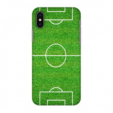 Football - Love Football - Soccer Ground Slim Hard Shell Case For Apple iPhone X