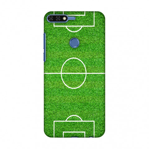 Football - Love Football - Soccer Ground Slim Hard Shell Case For Huawei Honor 7C