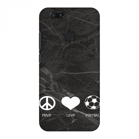 Football - Love Peace Football - Black Marble Slim Hard Shell Case For Xiaomi MI A1-5X