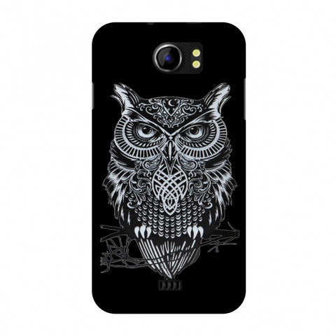 Graphic Owl Slim Hard Shell Case For Micromax Canvas 2 A110