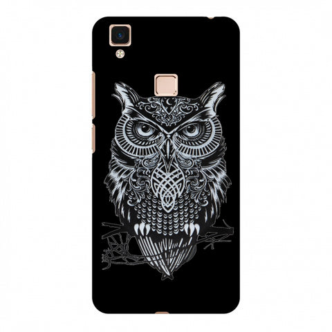 Graphic Owl Slim Hard Shell Case For Vivo V3 Max