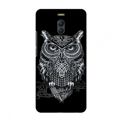 Graphic Owl Slim Hard Shell Case For Meizu Note 6