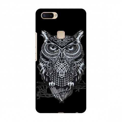 Graphic Owl Slim Hard Shell Case For Vivo X20 Plus