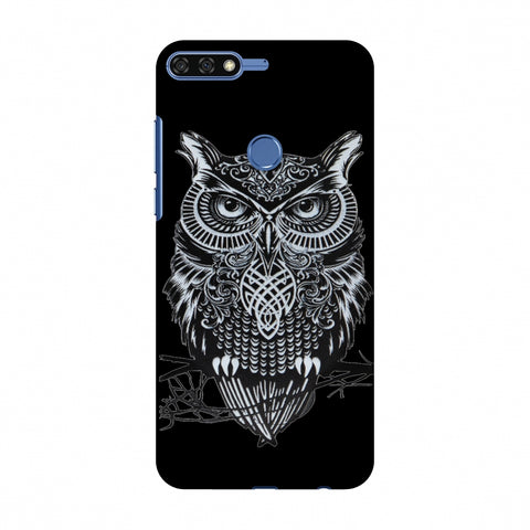 Graphic Owl Slim Hard Shell Case For Huawei Honor 7C