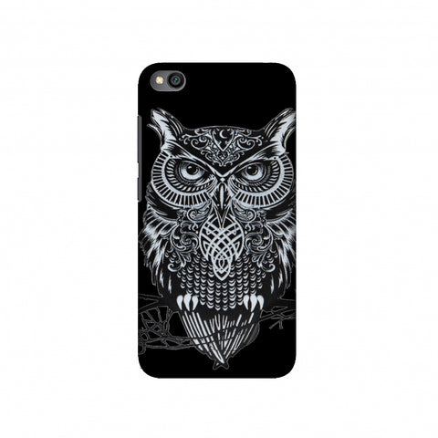 Graphic Owl Slim Hard Shell Case For Redmi Go