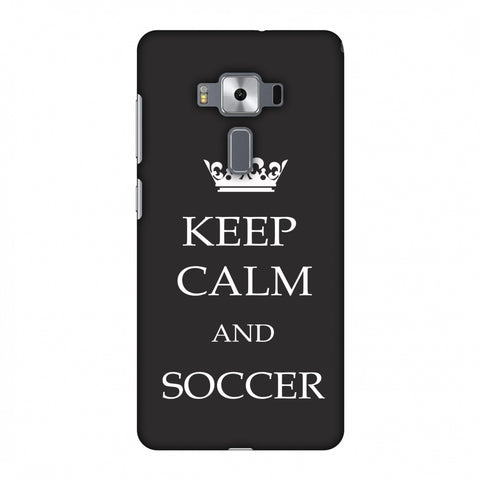 Soccer - Keep Calm And Soccer - Grey Slim Hard Shell Case For Asus Zenfone 3 Deluxe ZS570KL